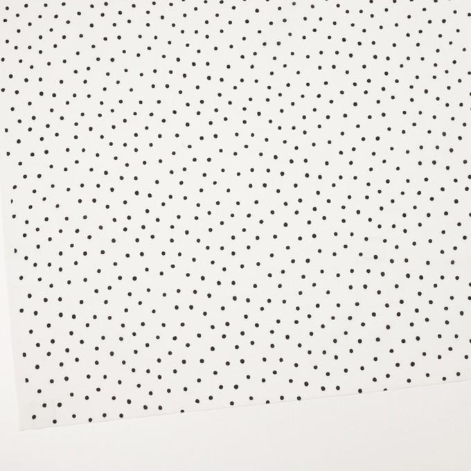 コットン×ドット(オフホワイト&ブラック)×ローン_全3色 イメージ2