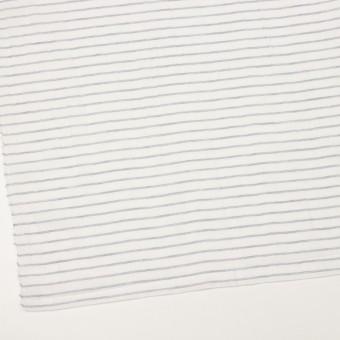 コットン&ラミー×ボーダー(オフホワイト&ネイビー)×ガーゼワッシャー_全3色 サムネイル2