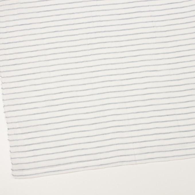 コットン&ラミー×ボーダー(オフホワイト&ネイビー)×ガーゼワッシャー_全3色 イメージ2