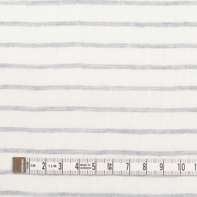 コットン&ラミー×ボーダー(オフホワイト&ネイビー)×ガーゼワッシャー_全3色 イメージ4