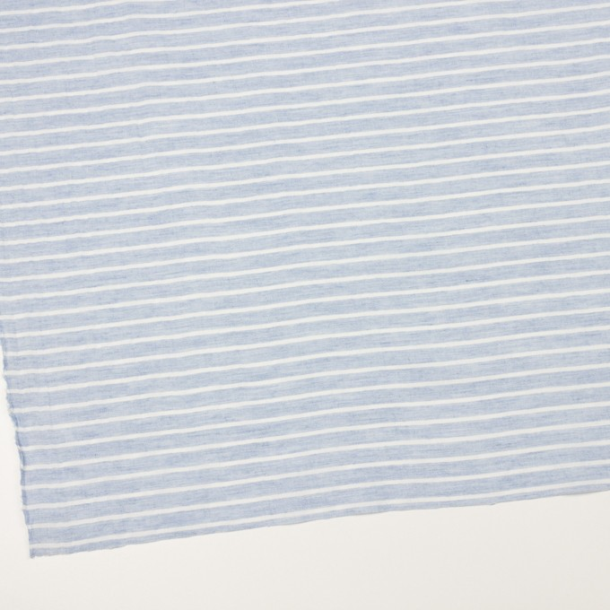 コットン&ラミー×ボーダー(ブルー)×ガーゼワッシャー_全3色 イメージ2