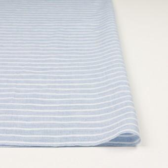 コットン&ラミー×ボーダー(ブルー)×ガーゼワッシャー_全3色 サムネイル3