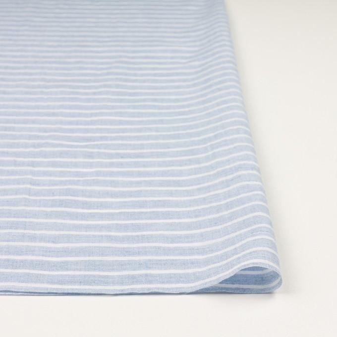 コットン&ラミー×ボーダー(ブルー)×ガーゼワッシャー_全3色 イメージ3
