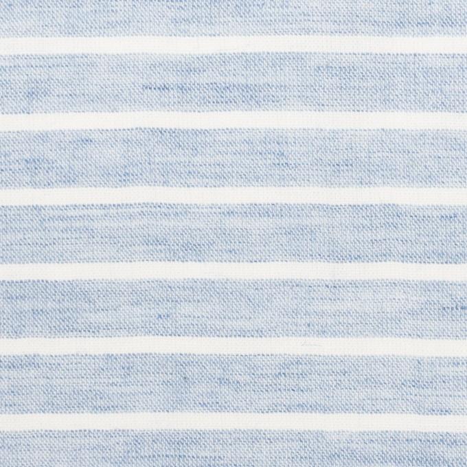 コットン&ラミー×ボーダー(ブルー)×ガーゼワッシャー_全3色 イメージ1