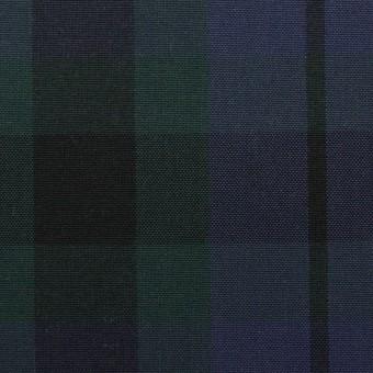 コットン×チェック(モスグリーン&グレープ)×オックスフォード
