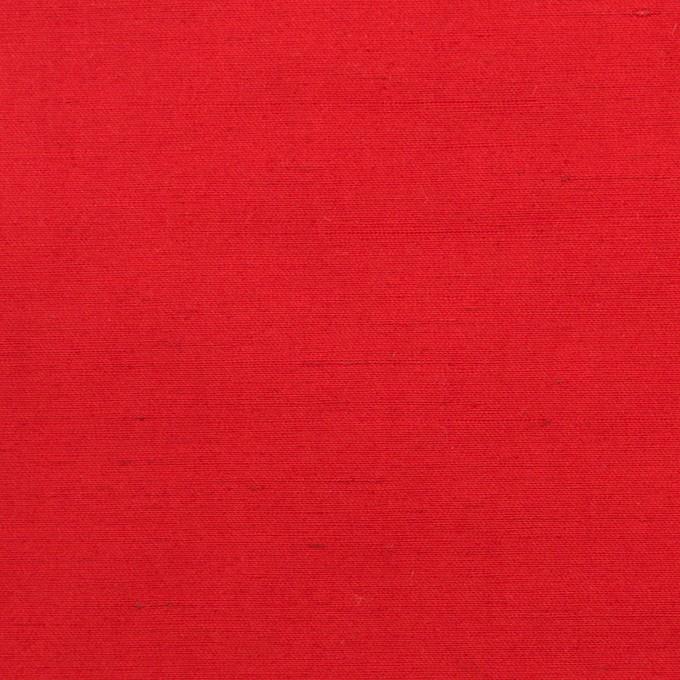 コットン&ポリエステル×無地(レッド)×バックサテンシャンタン_イタリア製 イメージ1