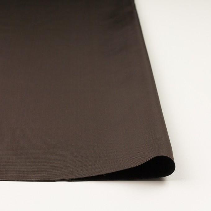 シルク×無地(ダークブラウン)×バックサテングログラン_イタリア製 イメージ3
