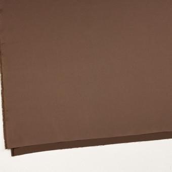 ポリエステル&ポリウレタン×無地(モカブラン)×サテンストレッチ_イタリア製 サムネイル2