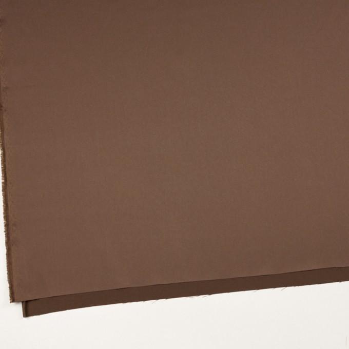 ポリエステル&ポリウレタン×無地(モカブラン)×サテンストレッチ_イタリア製 イメージ2