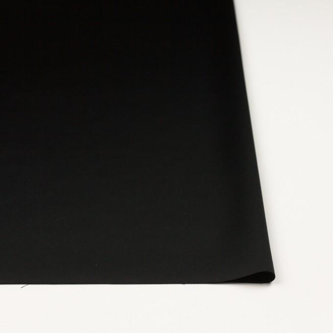 トリアセテート&ポリエステル×無地(ブラック)×サテン イメージ3