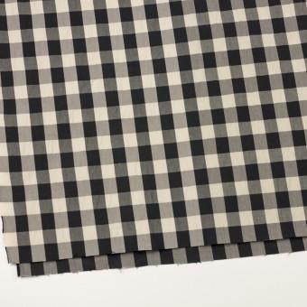 コットン&ナイロン×チェック(キナリ&ブラック)×高密ブロードワッシャー サムネイル2