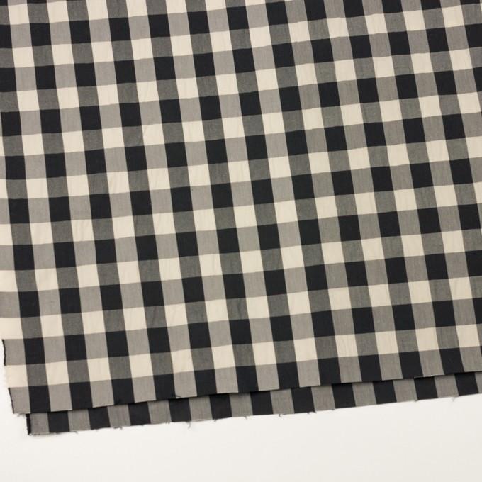 コットン&ナイロン×チェック(キナリ&ブラック)×高密ブロードワッシャー イメージ2