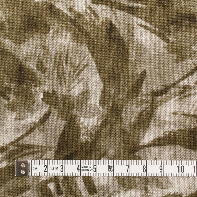 レーヨン&リネン×ボタニカル(カーキグリーン)×天竺ニット_全2色 イメージ4