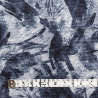 レーヨン&リネン×ボタニカル(ネイビー)×天竺ニット_全2色 サムネイル4