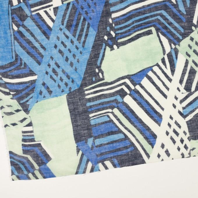 リネン×ペイント(スカイブルー)×ガーゼ_全2色 イメージ2