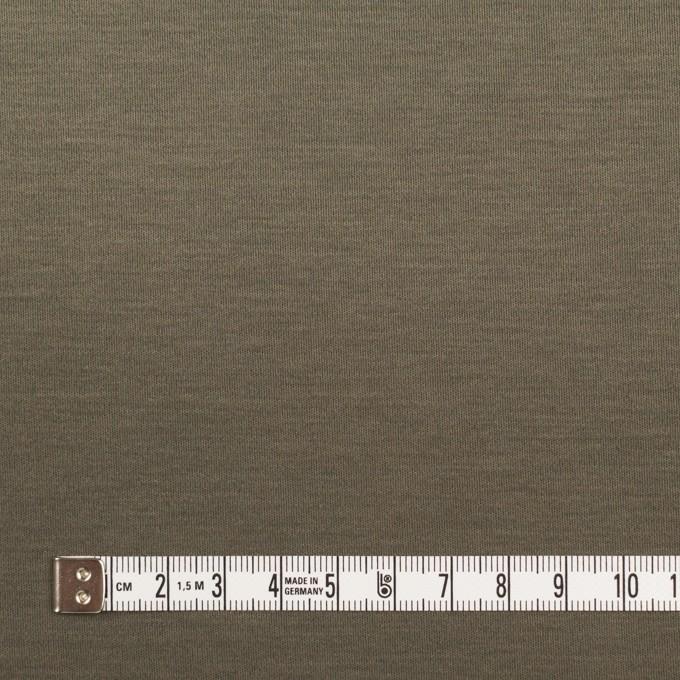 コットン×無地(アッシュカーキグリーン)×スムースニット イメージ4