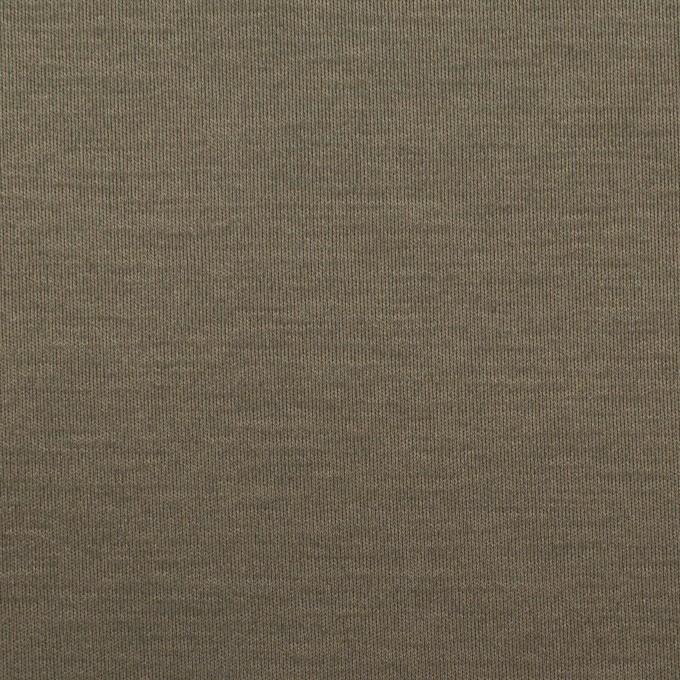 コットン×無地(アッシュカーキグリーン)×スムースニット イメージ1