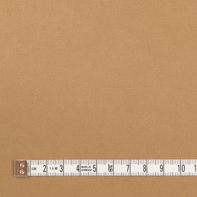 コットン&ポリウレタン×無地(オークル)×サテンストレッチ・ワッシャー イメージ4