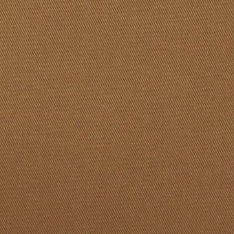 コットン&ポリウレタン×無地(カーキブラウン)×チノクロス・ストレッチ