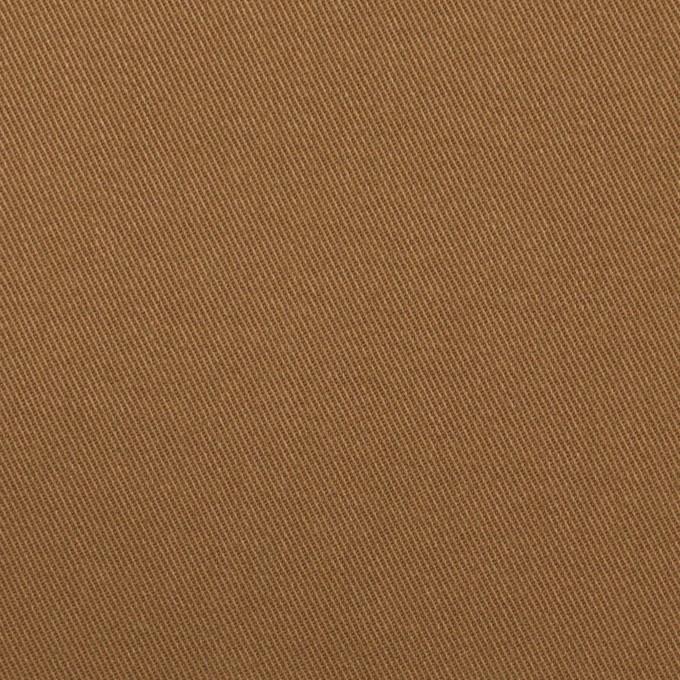 コットン&ポリウレタン×無地(カーキブラウン)×チノクロス・ストレッチ イメージ1