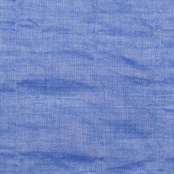 テンセル&コットン混×無地(ブルー)×ボイルシャーリング_全4色
