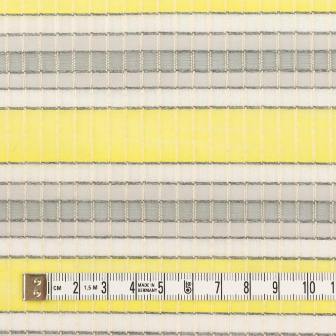 ナイロン&コットン×ボーダー(イエロー&グレー)×オーガンジー・ジャガード_全2色 イメージ4