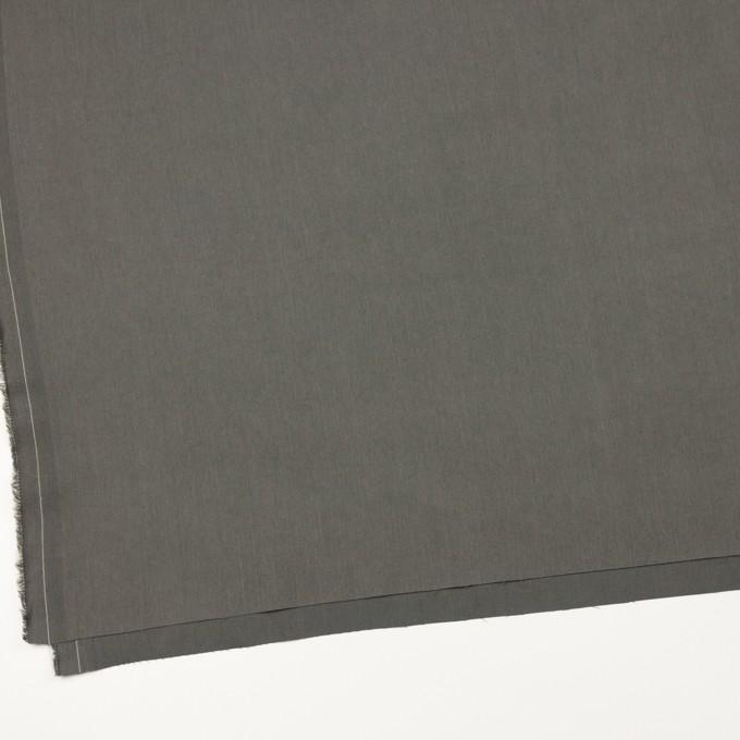 コットン&ビスコース混×無地(チャコールグレー)×サージストレッチ_全4色_イタリア製 イメージ2