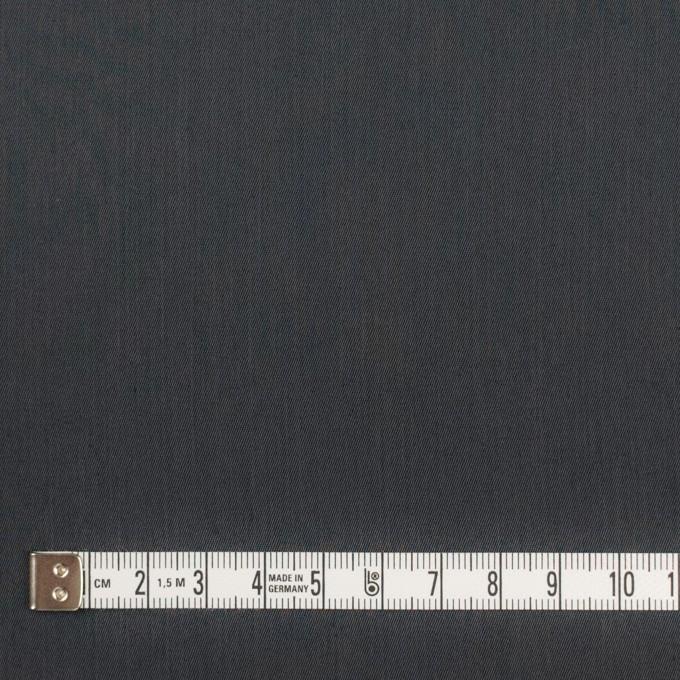 コットン&ビスコース混×無地(チャコール)×サージストレッチ_全4色_イタリア製 イメージ4