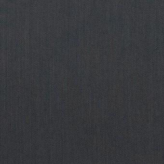 コットン&ビスコース混×無地(チャコール)×サージストレッチ_全4色_イタリア製