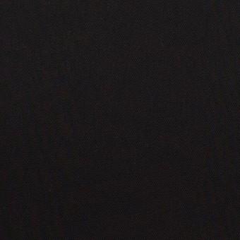コットン&ビスコース混×無地(ブラック)×サージストレッチ_全4色_イタリア製