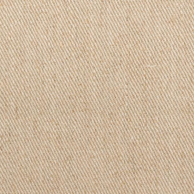 リネン&レーヨン×無地(カーキベージュ)×サージ イメージ1