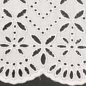 コットン×ボーダー(オフホワイト)×ローン刺繍No2_全4色