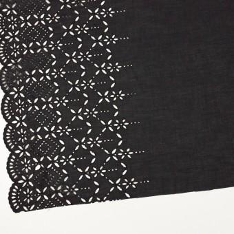 コットン×ボーダー(ダークプラムグレー)×ローン刺繍No2_全4色 サムネイル2