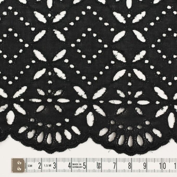 コットン×ボーダー(ブラック)×ローン刺繍No2_全4色 イメージ4