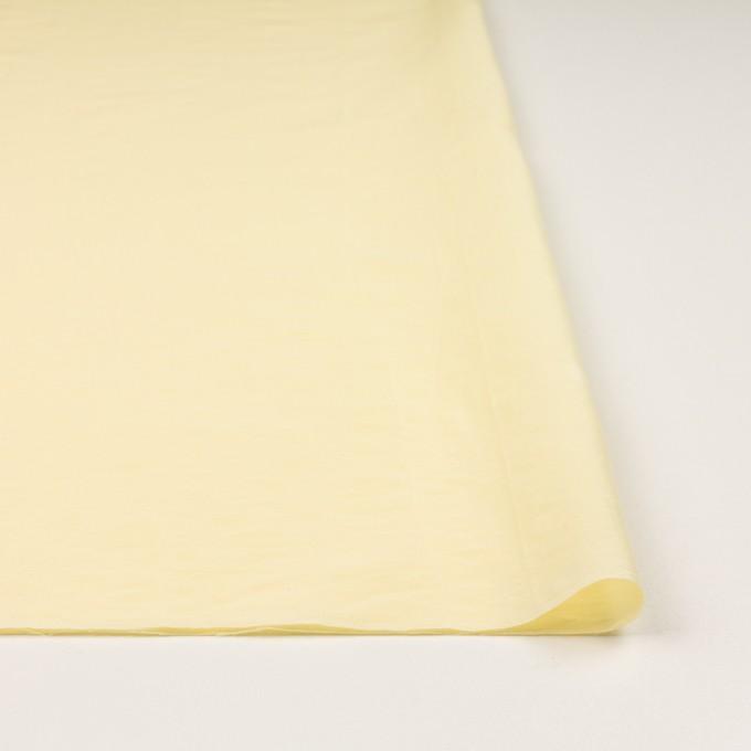 コットン&ポリアミド混×無地(クリームイエロー)×ローンワッシャー_イタリア製 イメージ3