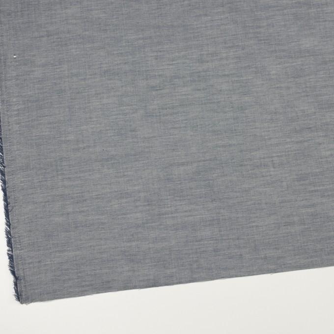 コットン×無地(アッシュネイビー)×シャンブレー_全3色_イタリア製 イメージ2