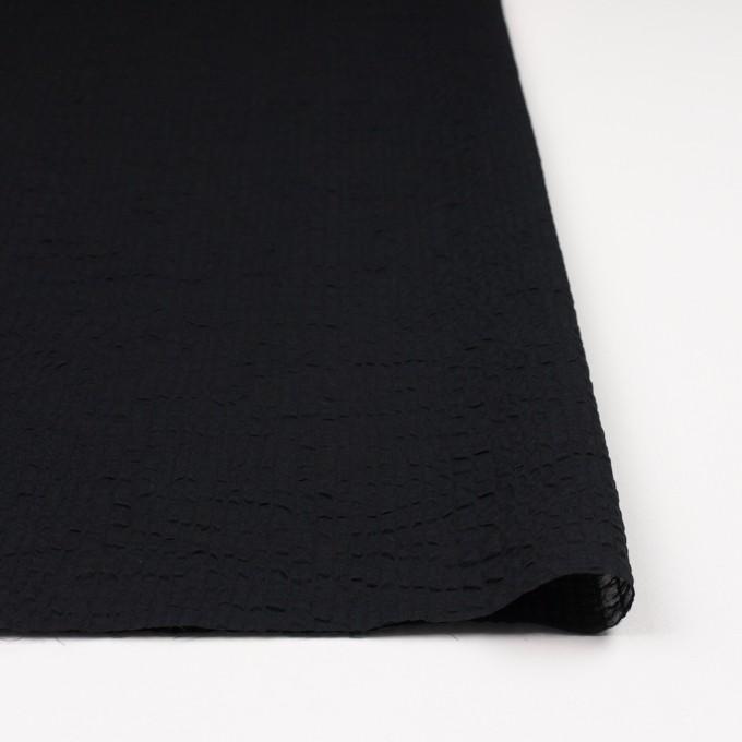 コットン×無地(ブラック)×ローンサッカー_全5色 イメージ3