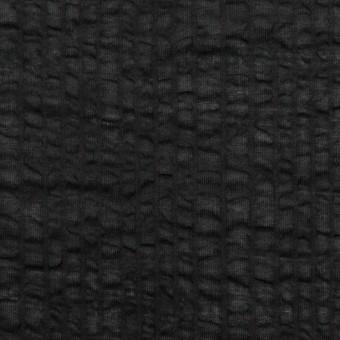 コットン×無地(ブラック)×ローンサッカー_全5色