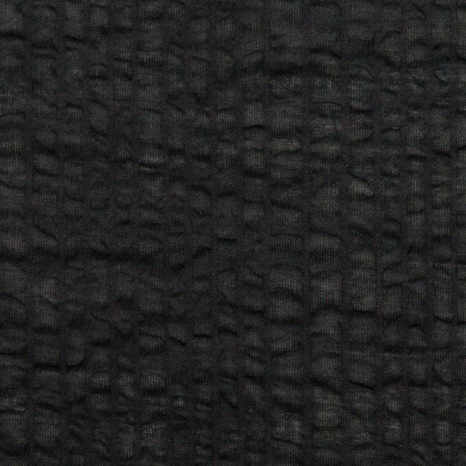 コットン×無地(ブラック)×ローンサッカー_全5色 イメージ1