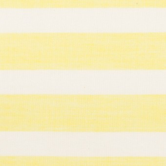 コットン&テンセル×ボーダー(レモン)×ボイル_全2色