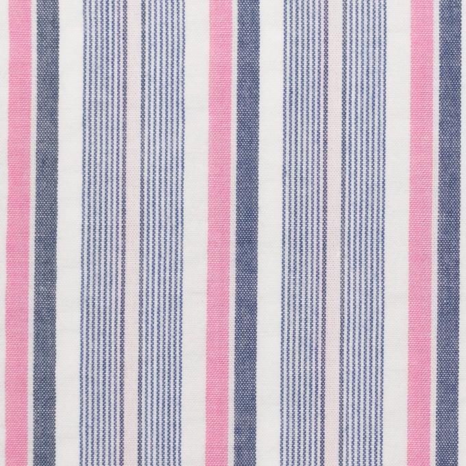 コットン×ストライプ(ピンク)×サッカー_全2色 イメージ1