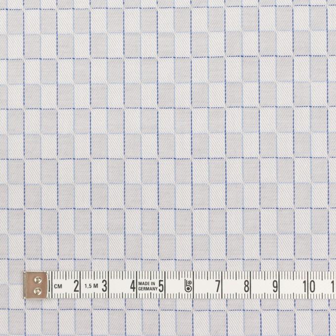 コットン×チェック(パールグレー)×ジャガード イメージ4