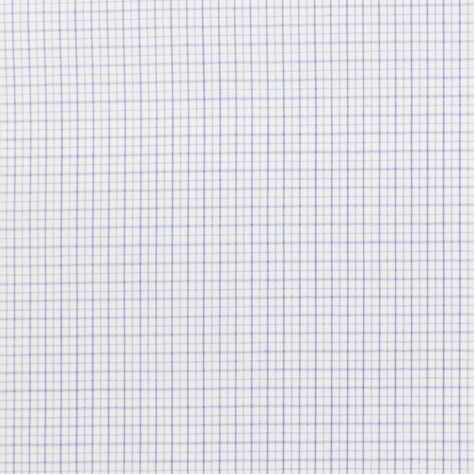 コットン×チェック(サックス)×ブロードワッシャー イメージ1