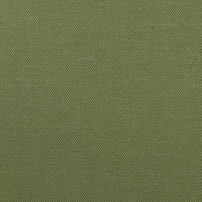 コットン×無地(カーキグリーン)×チノクロス イメージ1