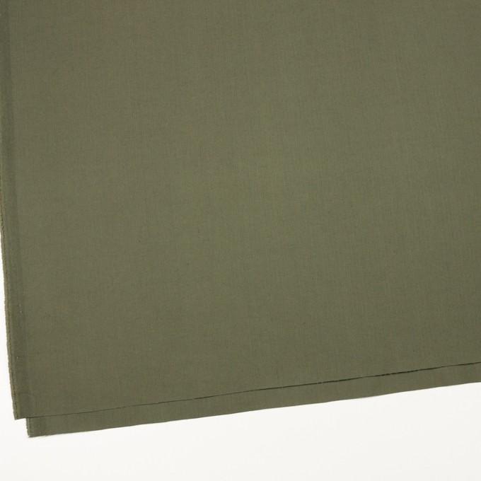 コットン&ポリエステル混×無地(スレートグリーン)×ヘリンボーン_イタリア製 イメージ2