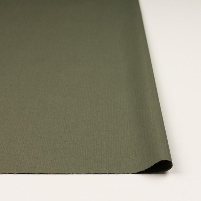 コットン&ポリエステル混×無地(スレートグリーン)×ヘリンボーン_イタリア製 イメージ3