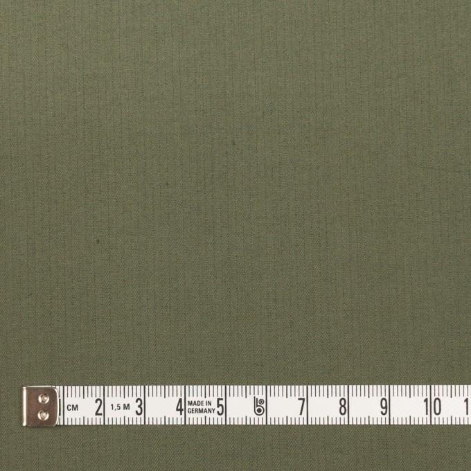 コットン&ポリエステル混×無地(スレートグリーン)×ヘリンボーン_イタリア製 イメージ4