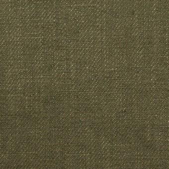 リネン×無地(カーキグリーン)×サージ_全6色 サムネイル1