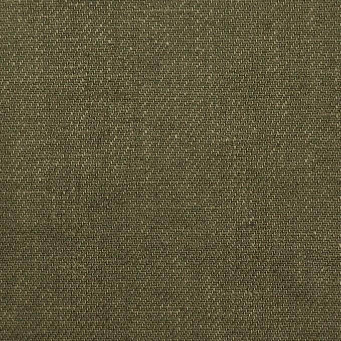 リネン×無地(カーキグリーン)×サージ_全6色 イメージ1
