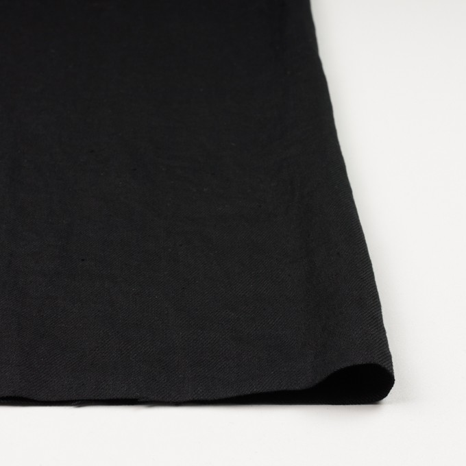 リネン×無地(ブラック)×サージ_全6色 イメージ3
